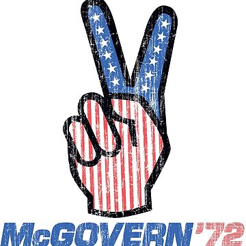 George McGovern Hand Peace Sign 1972 Presidential Campaign by retrocampaigns