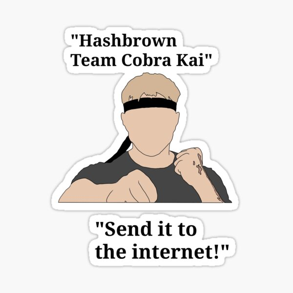 """""""Johnny Lawrence quotes from cobra kai """" Sticker"""