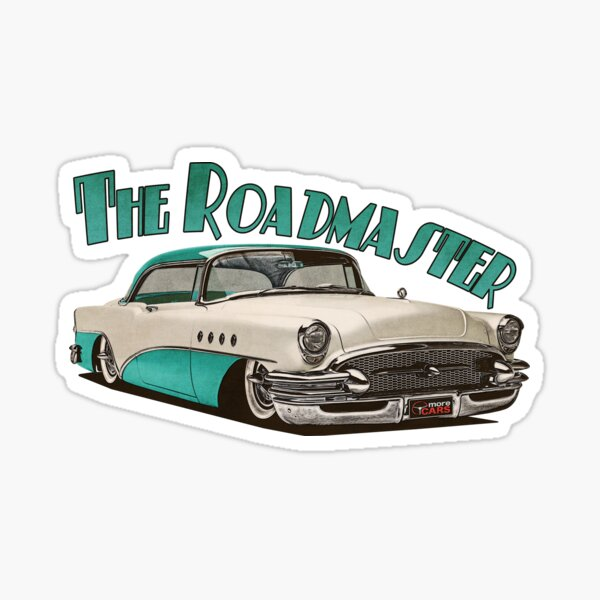 1955 Buick Roadmaster - Aqua Sticker