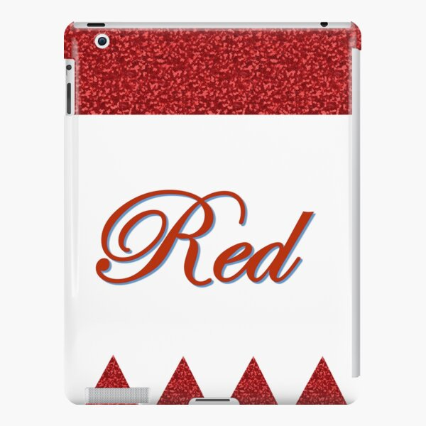 Romantic Red with sparkles iPad Snap Case