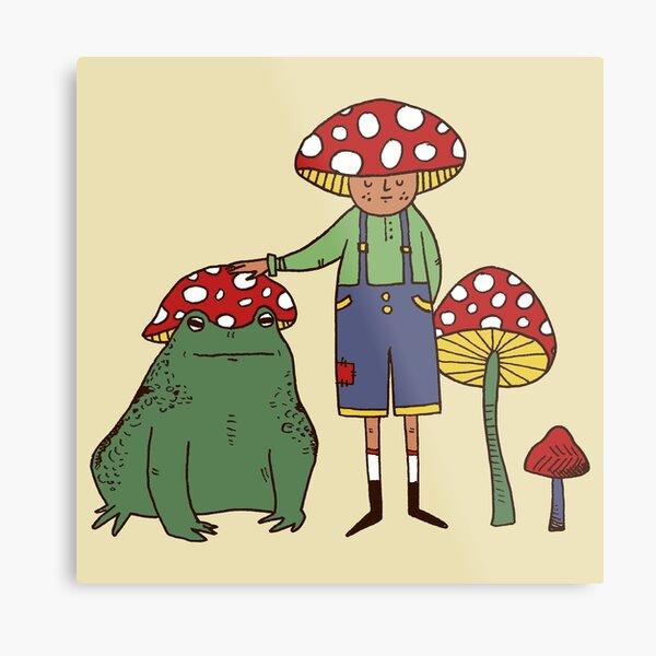 Mushroom /& Bug Cheese Plate Orange DotBlue Design