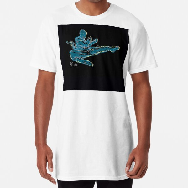Blue Kung Fu Long T-Shirt