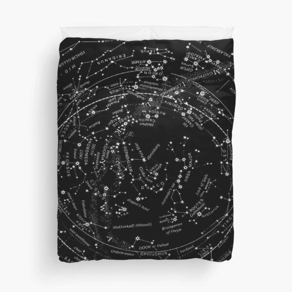 Celestial Mirror of the Eddas Ancient Astronomy Star Map Print Duvet Cover