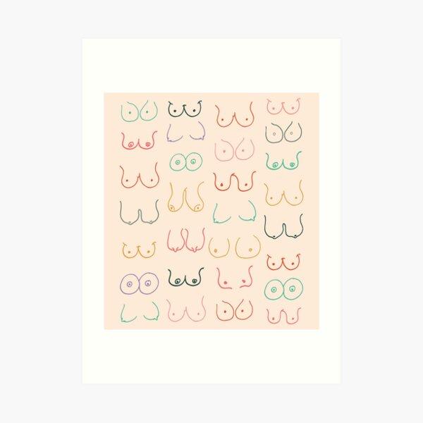 Pastel Boobs Art Print