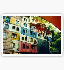 JUST PHOTOS ~ GALLIMAUFRY ~ Hundertwasserhaus in Vienna by tasmanianartist Sticker