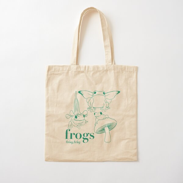 Frogs Cotton Tote Bag