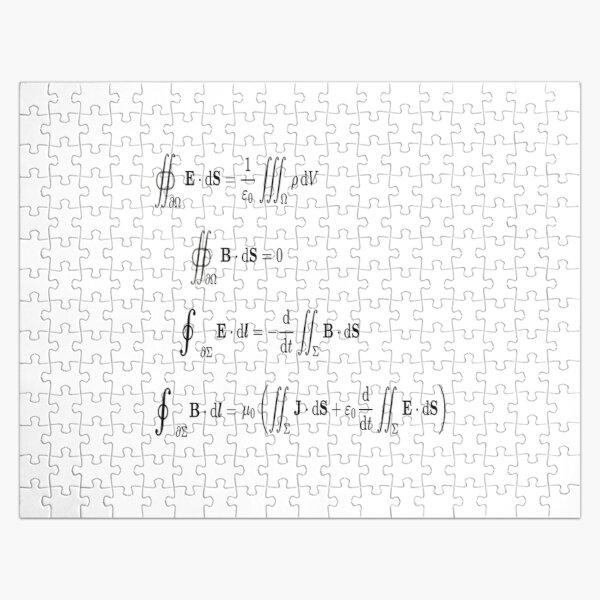 Maxwell's equations, #Maxwells, #equations, #MaxwellsEquations, Maxwell, equation, MaxwellEquations, #Physics, Electricity, Electrodynamics, Electromagnetism Jigsaw Puzzle