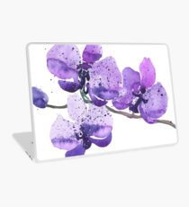 Lila Orchidee Aquarell Laptop Folie
