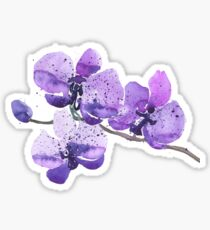 Purple Orchid Watercolor Sticker
