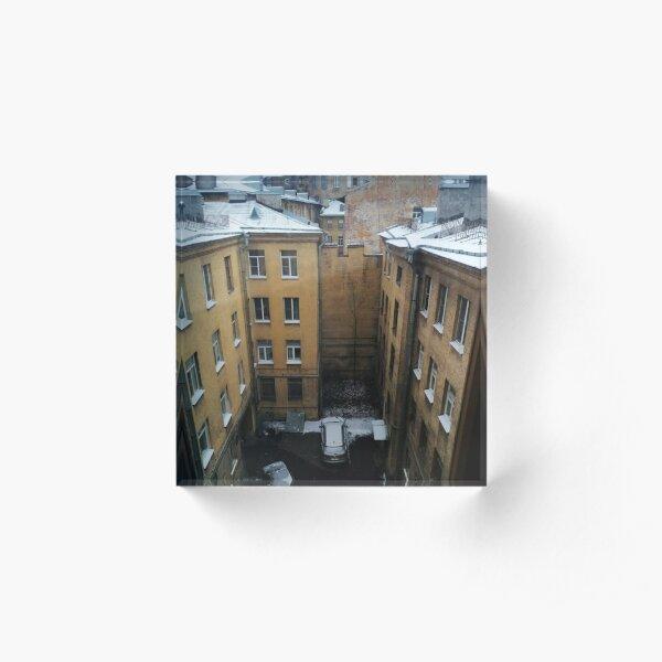 Живопись города. City painting. Acrylic Block