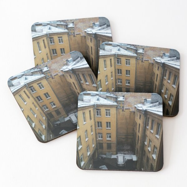 Живопись города. City painting.  Coasters (Set of 4)