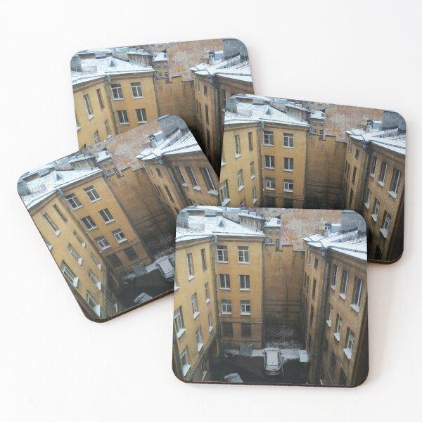 Живопись города. City painting.  Coasters (Set of 4)
