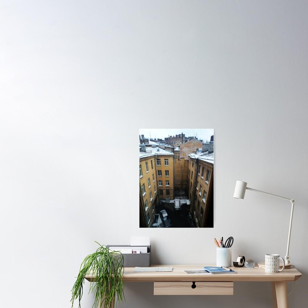 Живопись города. City painting.  Poster