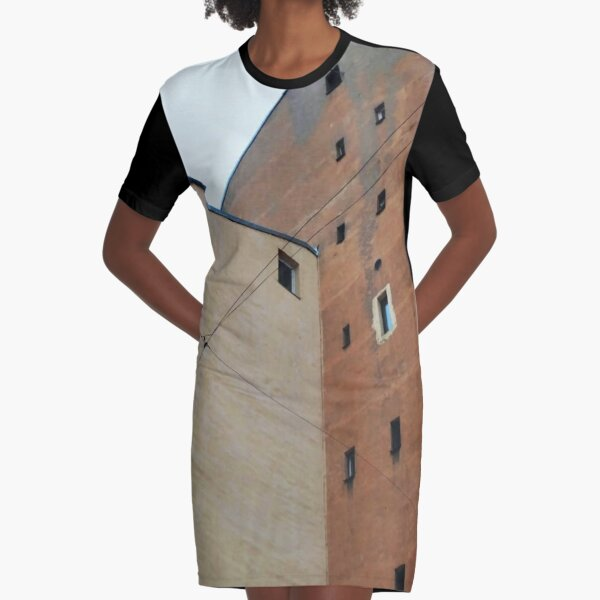 Живопись города, City painting Graphic T-Shirt Dress