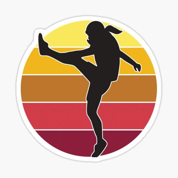 Female Football Kicker! Sticker