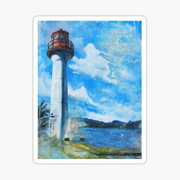 Mayne Island Cloud & Lighthouse (day) Sticker