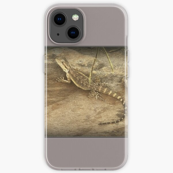 LIZARD ON A ROCK  iPhone Soft Case