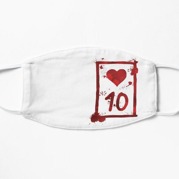 Ten of Hearts Flat Mask