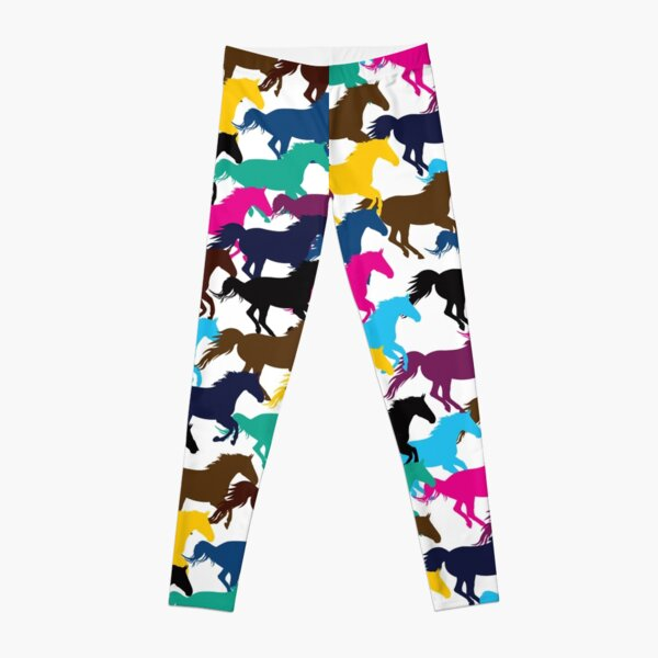 Horse Riding Lovers Funny Arts Leggings