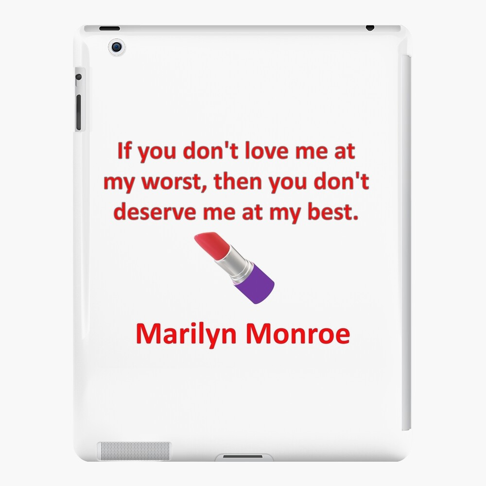 Marilyn Monroe quote and lipstick  iPad Case & Skin