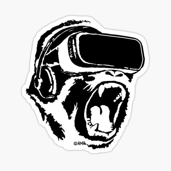 VR Gorilla Sticker