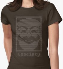 mr. robot - f.society.dat Womens Fitted T-Shirt