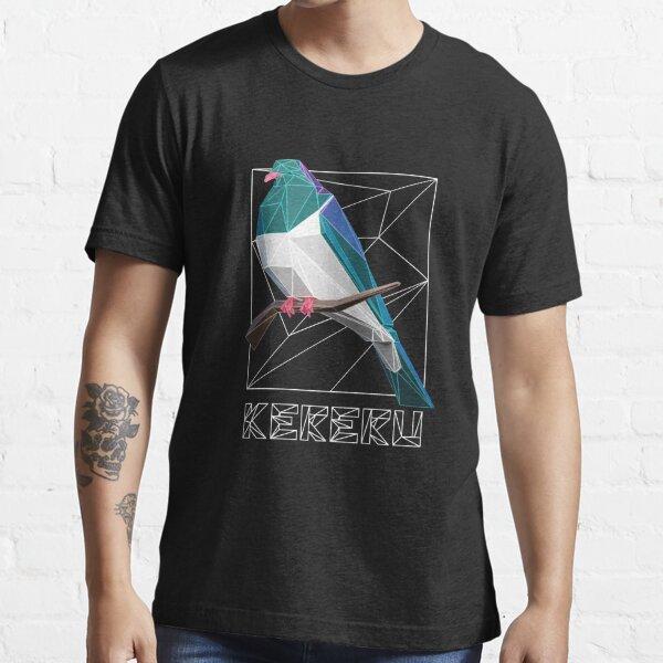 Kereru 3D Polygonal Art Essential T-Shirt