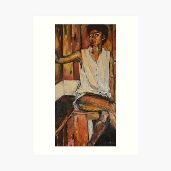 "Oil Portrait of Woman, ""A Year in Sitting"" Art Print"