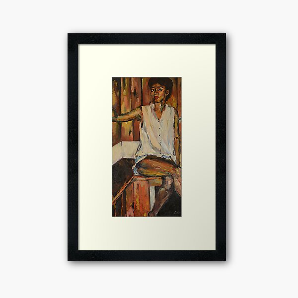 "Oil Portrait of Woman, ""A Year in Sitting"" Framed Art Print"