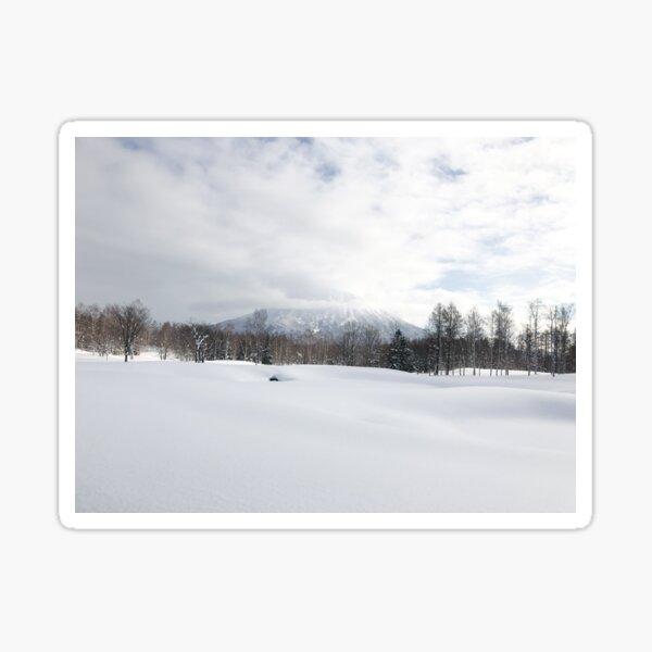 Snowy mountain landscape | Japan in the winter Sticker