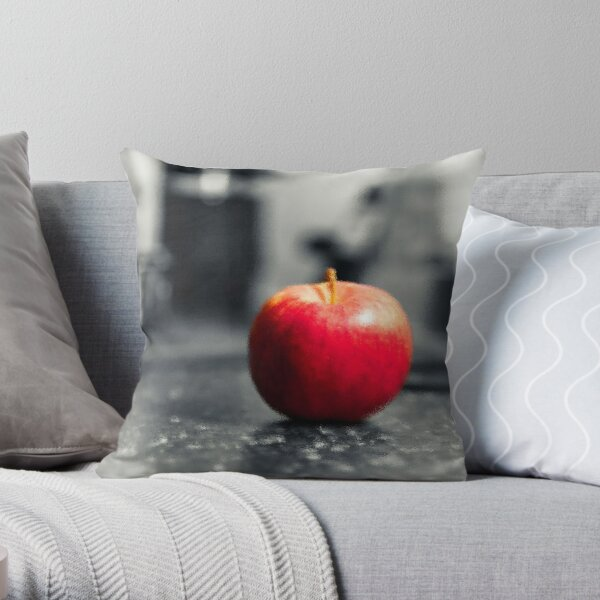 Red Apple with shades of red Throw Pillow
