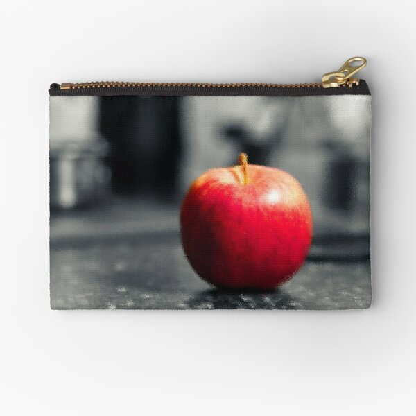 Red Apple with shades of red Zipper Pouch