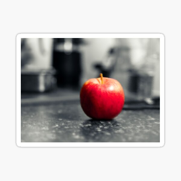 Red Apple with shades of red Sticker