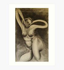 Charcoal Gia Art Print