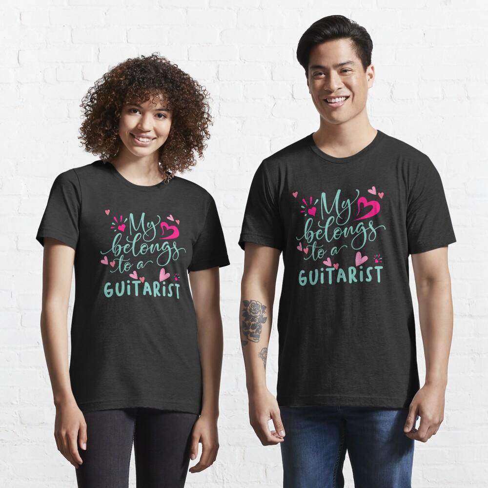 MY HEART BELONGS TO A GUITARIST Essential T-Shirt