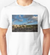 Herculaneum - Dramatic Sky and Shadows Evoke the Ancient Volcano Eruption Disaster Unisex T-Shirt