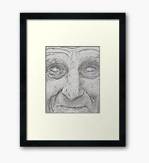 Starry eyed man. Framed Print