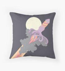 Rocket Squid Throw Pillow
