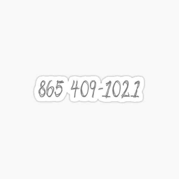 865 409-1021 (Morgan Wallen) Sticker