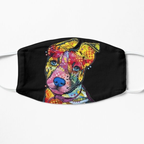 Pitbull Color Dog Lovers Flat Mask