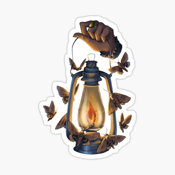 Moth to a Flame Sticker