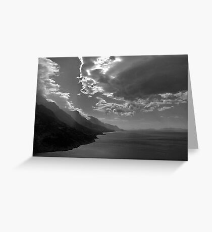 Dark clouds  on the Dalmation coast Greeting Card
