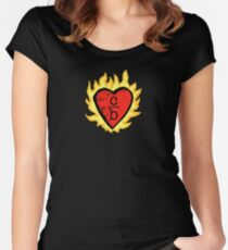 clothes over bros heart logo Fitted Scoop T-Shirt