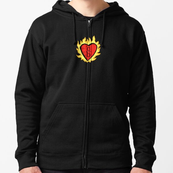 clothes over bros heart logo Zipped Hoodie