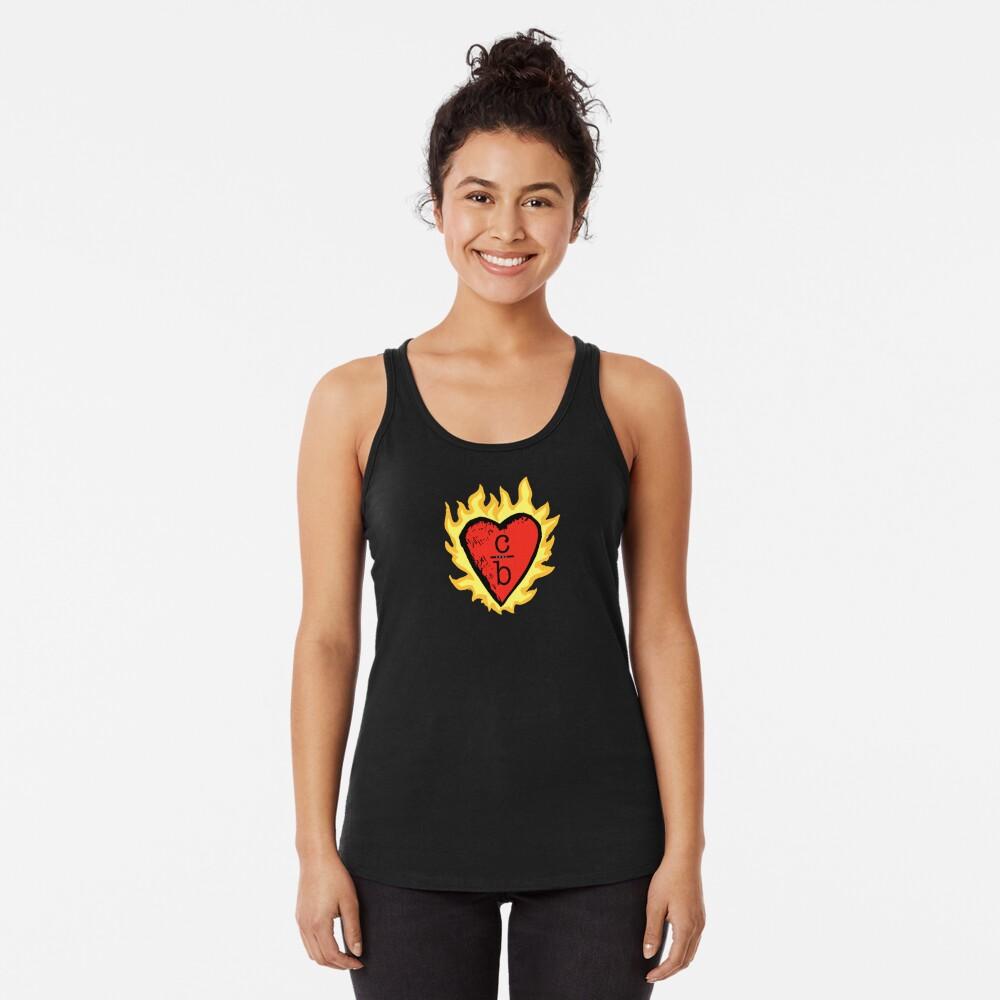 clothes over bros heart logo Racerback Tank Top