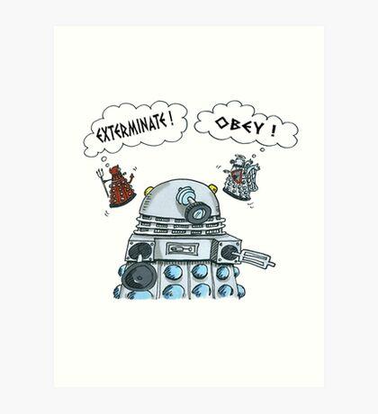 The Inner Workings of the Dalek Mind Art Print