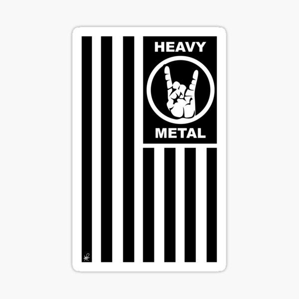 Flag of Heavy Metal Sticker