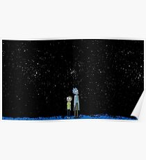 Rick and Morty x Calvin and Hobbes Poster