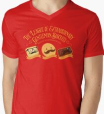 The League of Extraordinary Gentleman Biscuits Men's V-Neck T-Shirt