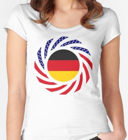 German American Multinational Patriot Flag Series Fitted Scoop T-Shirt
